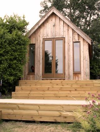 Garden studio with decking