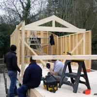 Timber frame garden office