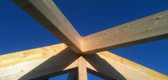 Image of Timber Frame Buildings Roof Joint