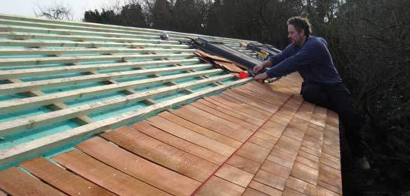 Image of Timber Frame Buildings Insulation Shingle Roof