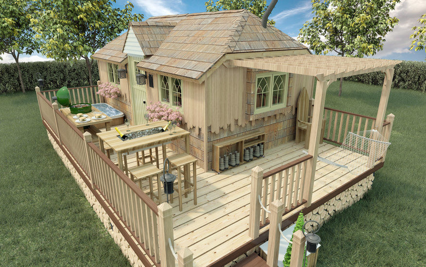 garden living in an annexe